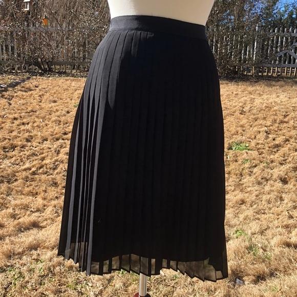 7a2e5744d2 Rebecca Taylor Skirts | Pleated Skirt Black | Poshmark